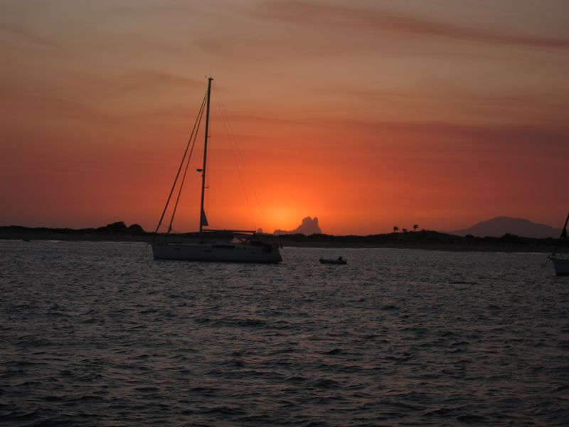 Puesta de Sol velero Ibiza