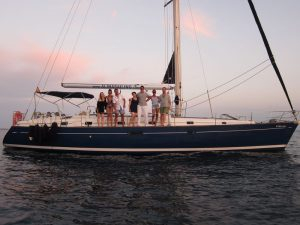 Enjoy your boat trips La Manga to Cartagena on board our fantastic blue hull sailboat Beneteau Oceanis 50