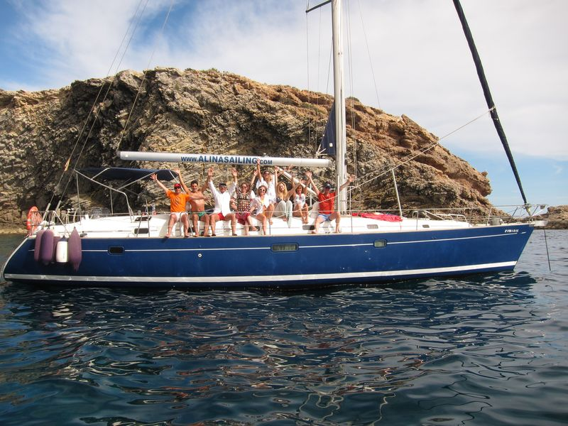 Enjoy your boat trips Mar Menor Calpe on board our luxury blue hull sailboat Bemeteau Oceanis 50