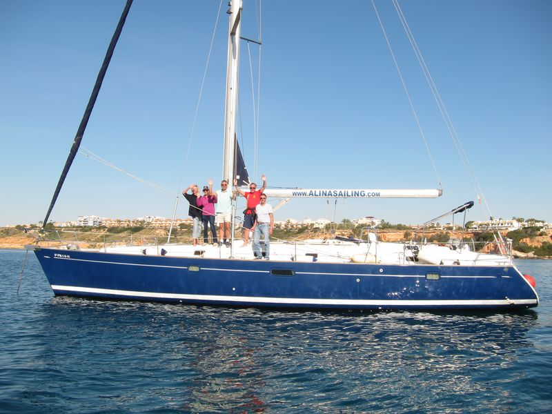 Enjoy your boat trips Mar Menor to Cartagena on board our awesome blue hull sailboat Beneteau Oceanis 50