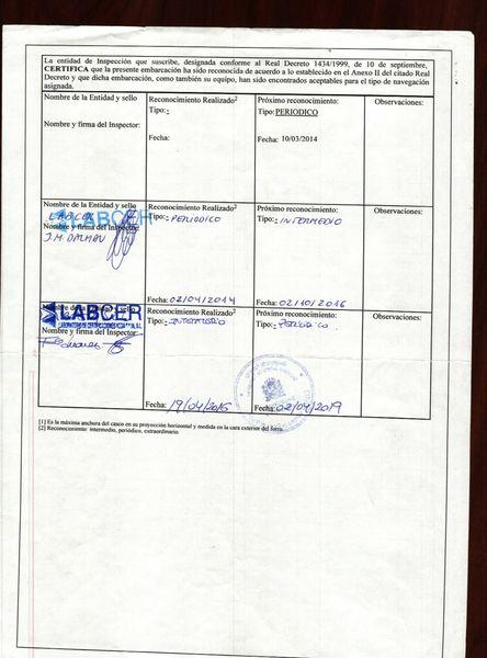 El certificado de navegabilidad es un documento en el que figuran las características técnicas de la embarcación y las inspecciones que le han sido realizadas por la Administración.