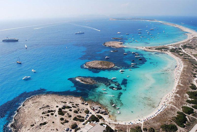 Vista panorámica de la isla de Espalmador, en el norte de Formentera