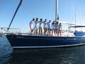 Familia Losada alquiler barco con patrón en Ibiza