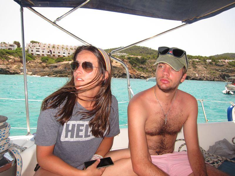 Familia Losada alquiler barco Ibiza