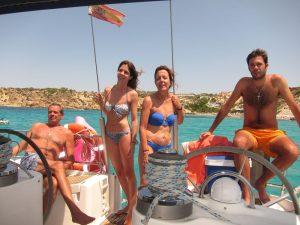 Familia Losada alquiler velero Ibiza