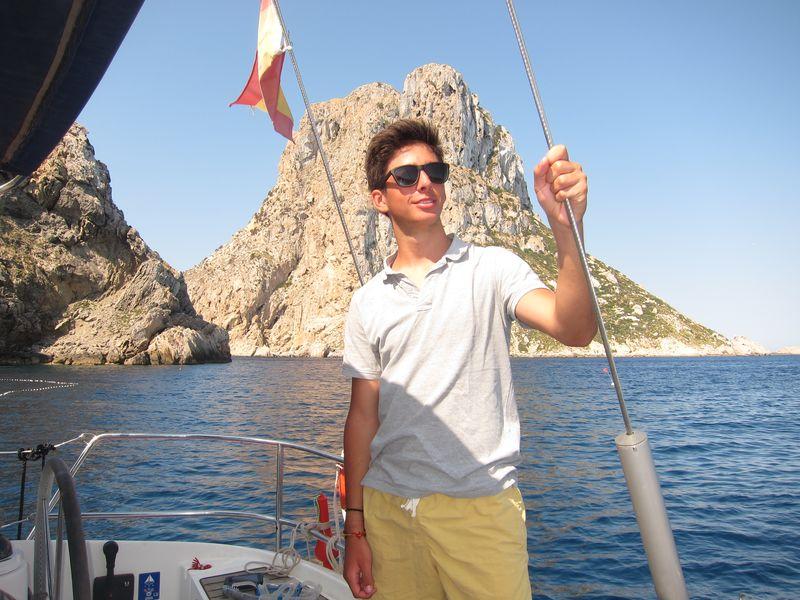 Familia Losada charter Ibiza. Foto de Diego