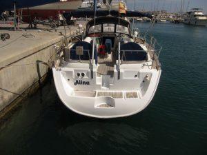 Ibiza boat charter 2018: hemos arreglado la popa de nuestro barco y hemos logrado rejuvenecerla hasta dejarla como nueva