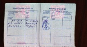 La libreta marítima es el documento identificativo de todo profesional que trabaja en la mar.
