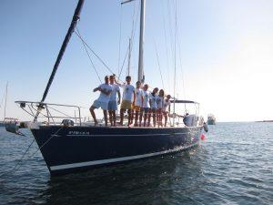 Familia Losada alquiler barco con patrón Ibiza