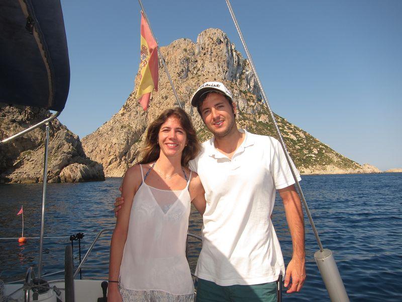 Familia Losada alquiler de barcos en Ibiza