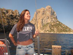 Familia Losada alquiler de velero en Ibiza