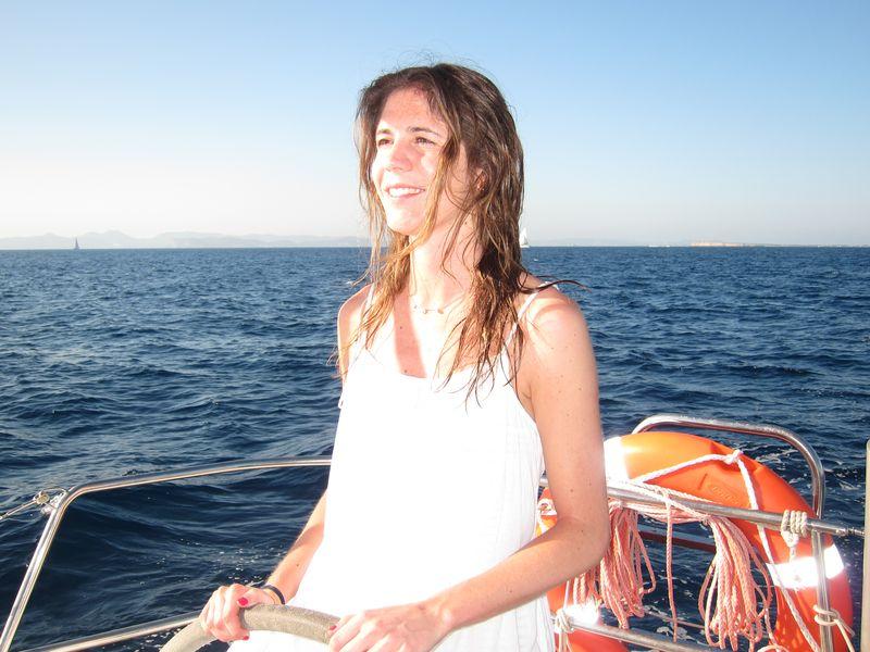 Familia Losada alquiler velero con patrón Ibiza