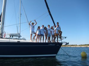 Familia Losada alquiler velero por días en Ibiza