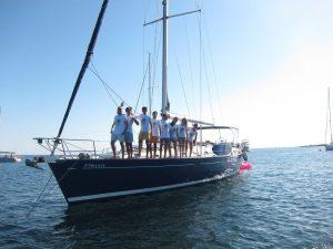 Familia Losada alquiler veleros con patrón en Ibiza