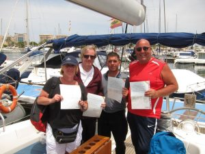 Very proud nautical licence students