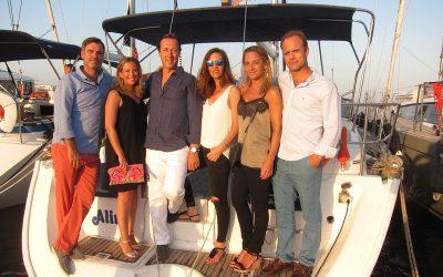 Sevillanos alquiler velero con patrón en Ibiza